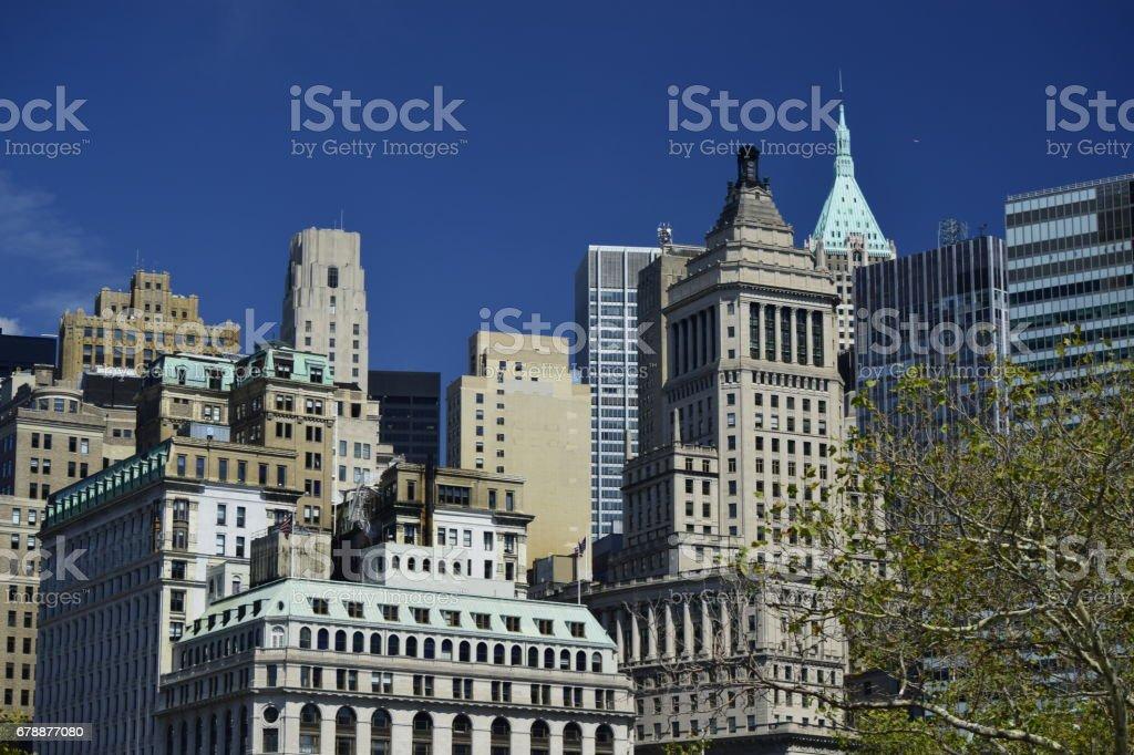 Skyscrapers in Lower Manhattan stock photo