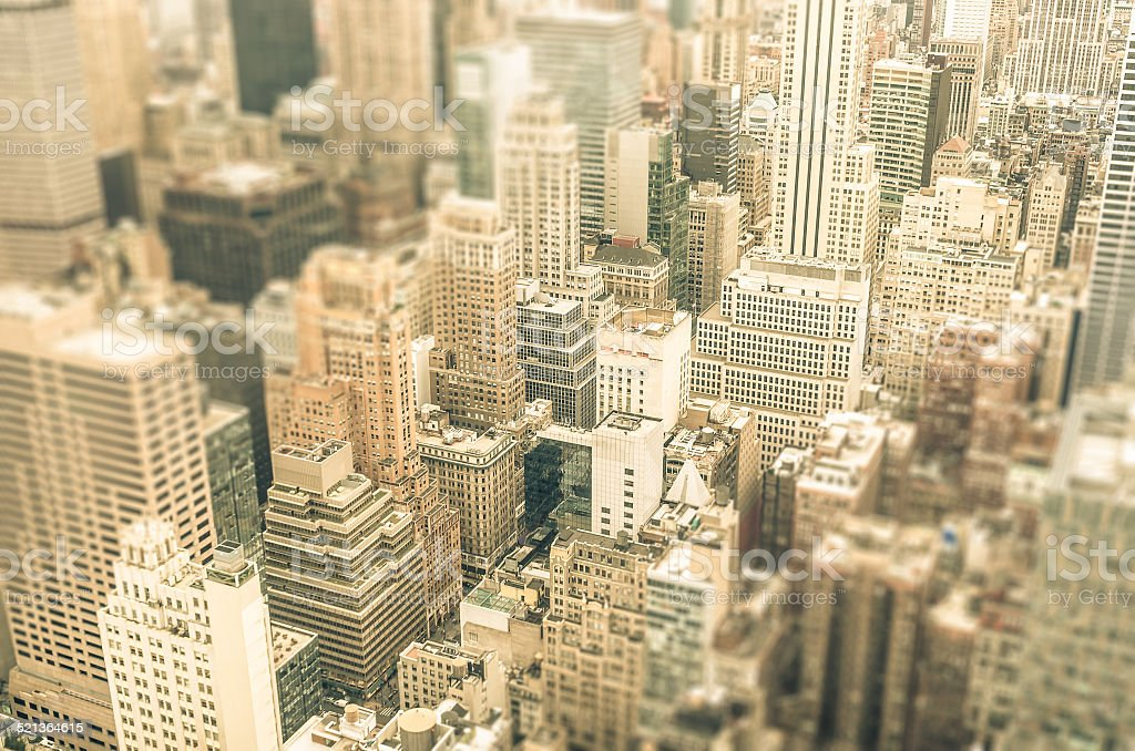 Skyscrapers in Manhattan downtown - New York City stock photo