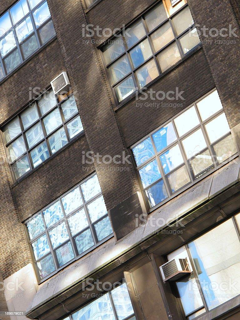 Wolkenkratzer-in Manhattan, New York, am frühen Morgen Lizenzfreies stock-foto