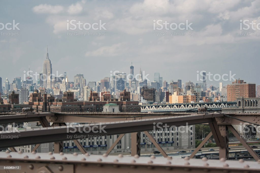Skyscrapers in Manhattan stock photo