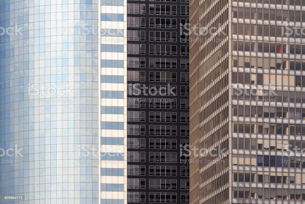 Skyscrapers in Manhattan stock photo