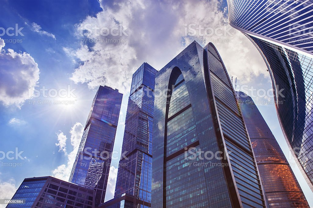 Skyscrapers in Moscow city royalty-free stock photo