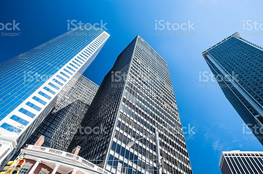 Skyscrapers in New York City royalty-free stock photo