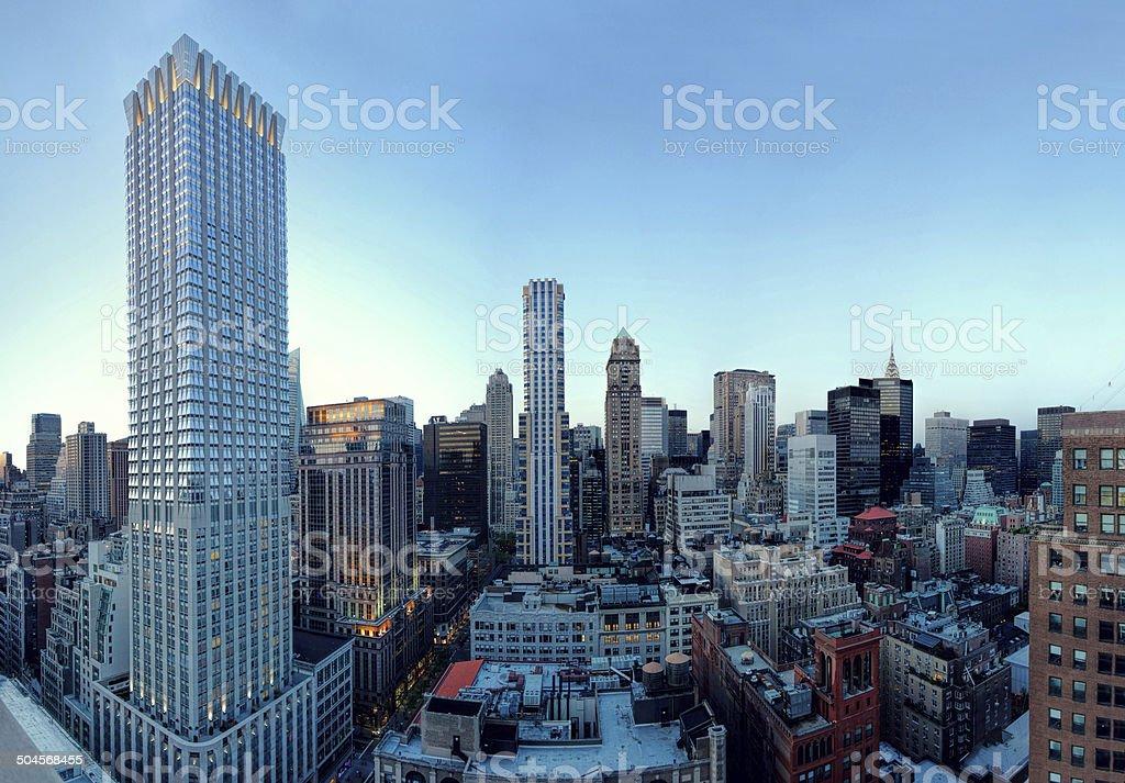 skyscrapers in New York City stock photo