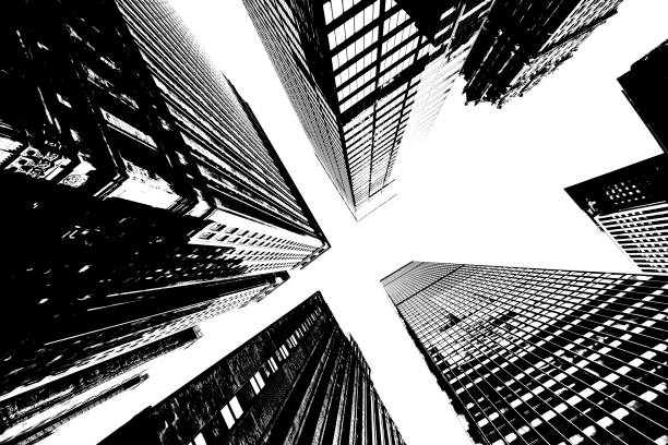 skyscrapers in new york city - chrysler building stock photos and pictures
