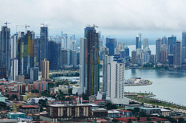 Skyscrapers in Panama stock photo
