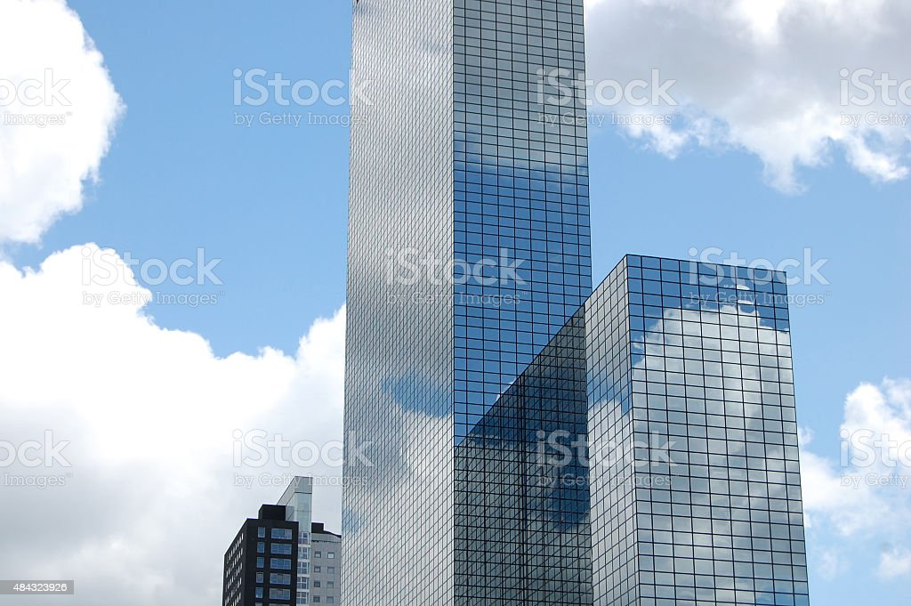 Skyscrapers in Rotterdam, The Netherlands stock photo
