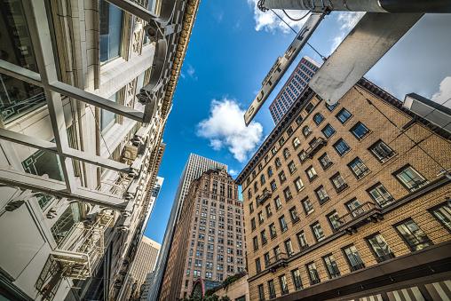 Wolkenkrabbers In Het Financiële District Van San Francisco Stockfoto en meer beelden van Architectuur