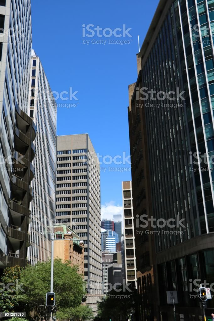 Skyscrapers in Sydney, New South Wales Australia stock photo