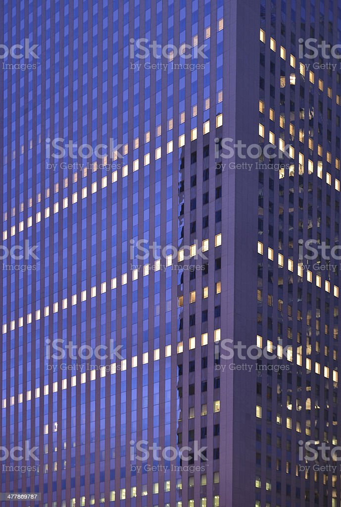 Skyscrapers in the night stock photo