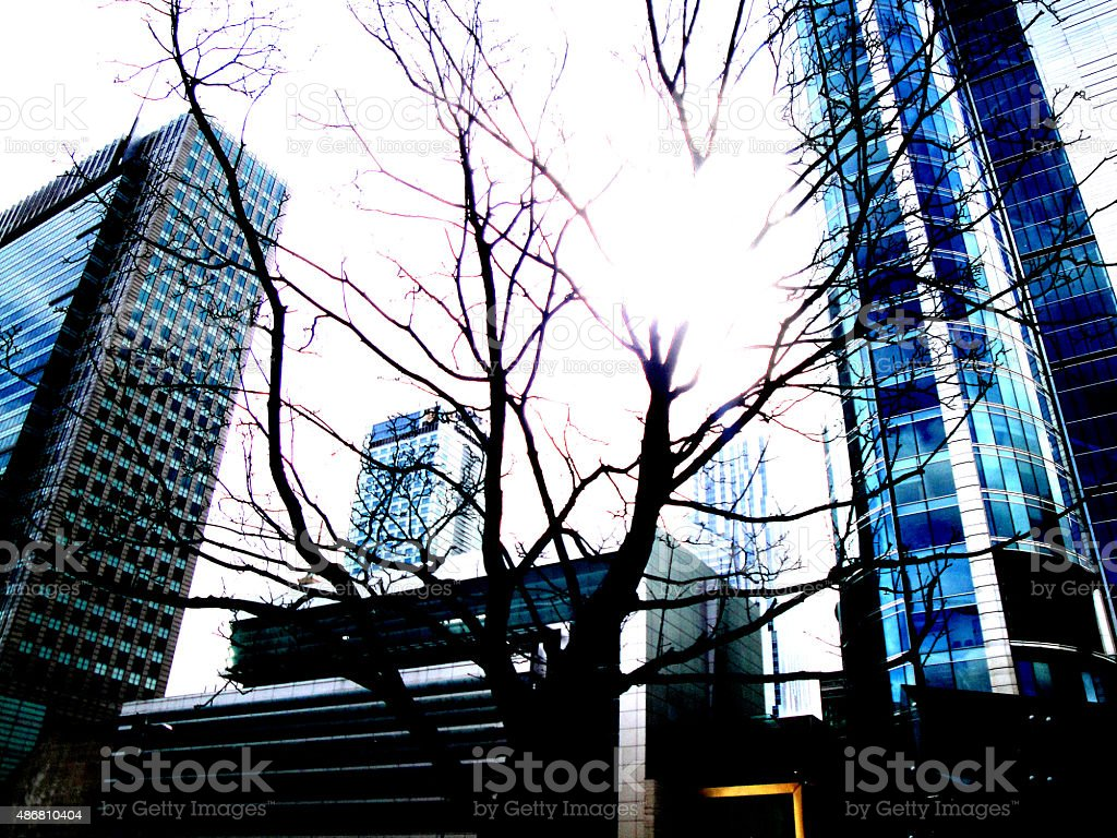 Skyscrapers in Warsaw royalty-free stock photo