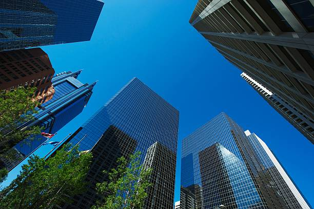 Skyscrapers of Calgary stock photo