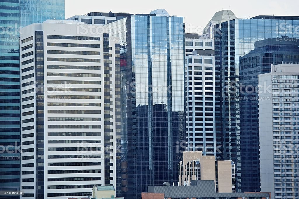 Skyscrapers of Calgary royalty-free stock photo