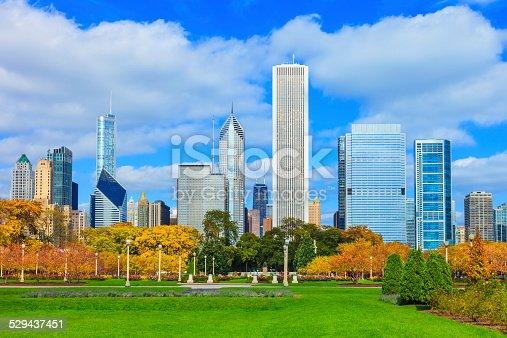 852738732istockphoto Skyscrapers of Chicago skyline,Grant Park,Illinois 529437451