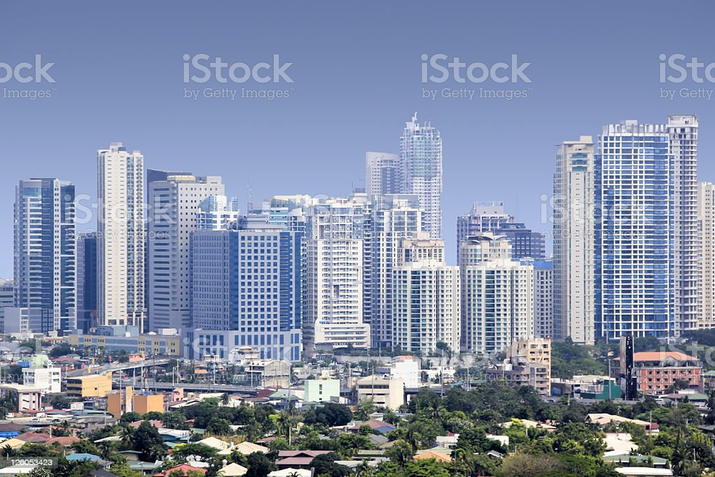 Skyscrapers of Fort Bonifacio, Manila, Phillipines royalty-free stock photo