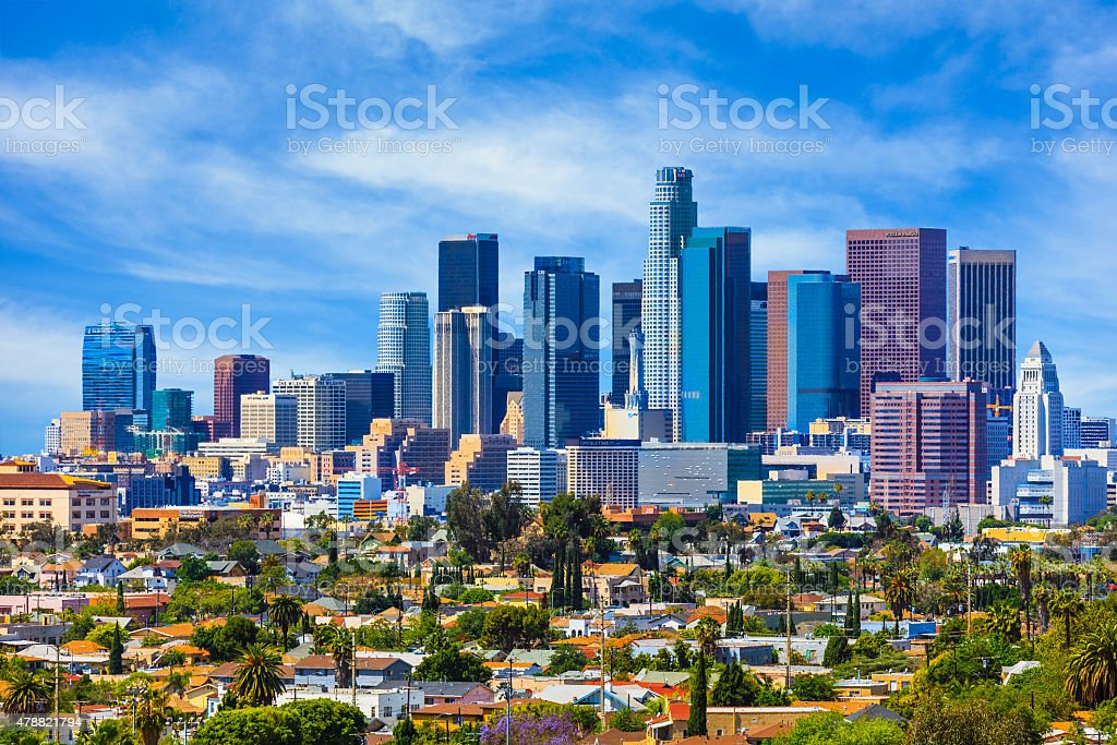 Skyscrapers of Los Angeles skyline,architecture,urban,cityscape, stock photo