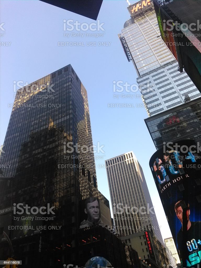 NEW YORK, USA - MARCH 26: Skyscrapers of Manhattan. Manhattan this one of places with the greatest concentration of the capital in the USA on March 26, 2014 in New York, USA stock photo