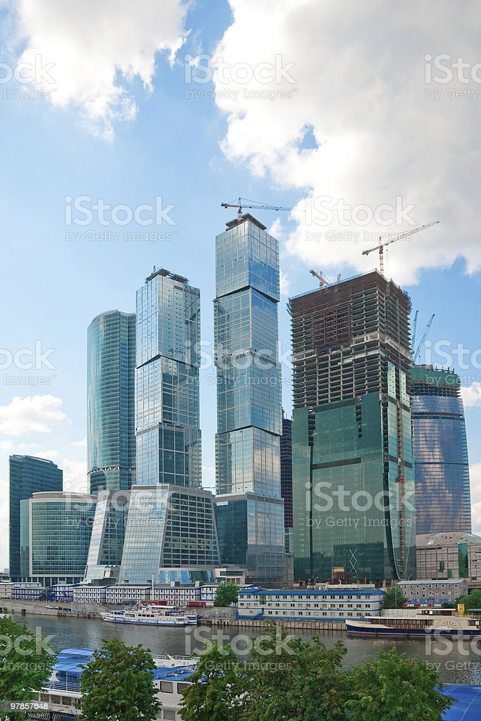 Skyscrapers of Moscow's Business Center royalty-free stock photo