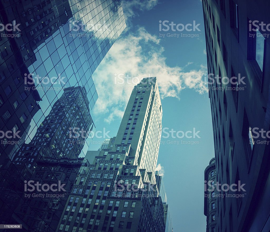 Skyscrapers of New York royalty-free stock photo