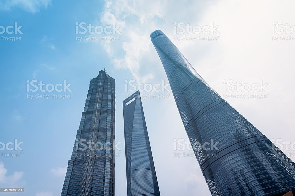 Skyscrapers of Shanghai. stock photo
