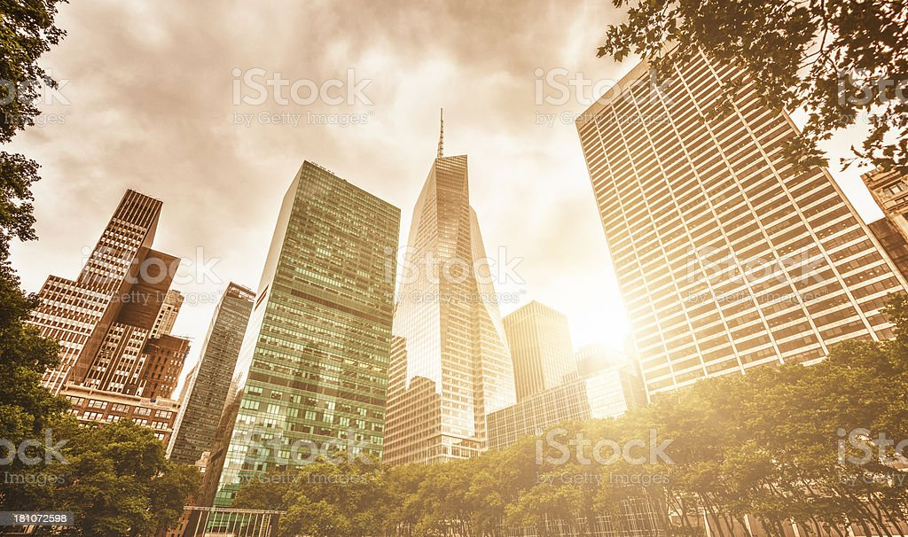 Skyscrapers on Manhattan stock photo