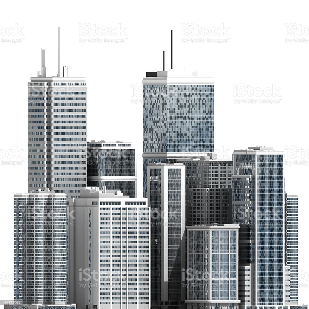 3D Skyscrapers royalty-free stock photo