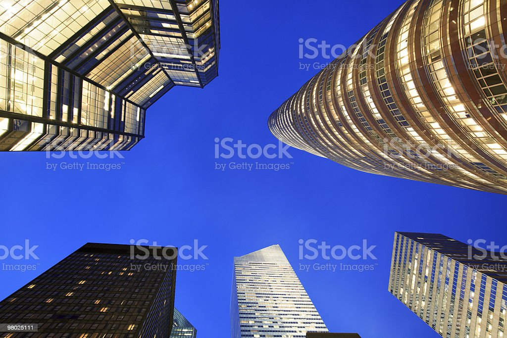 NYC Skyscrapers royalty-free stock photo