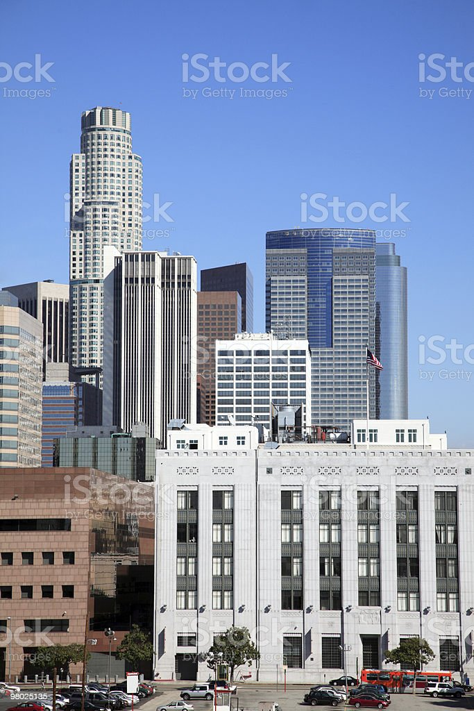 LA Skyscrapers royalty-free stock photo