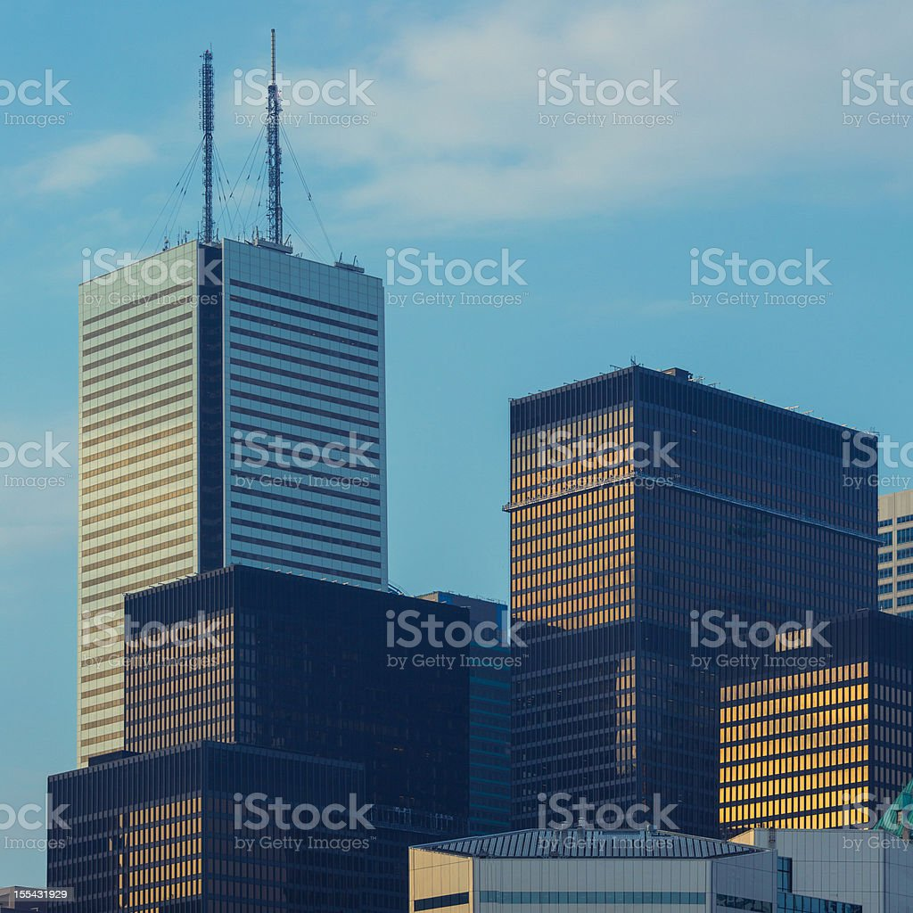 Skyscrapers Toronto Financial District royalty-free stock photo