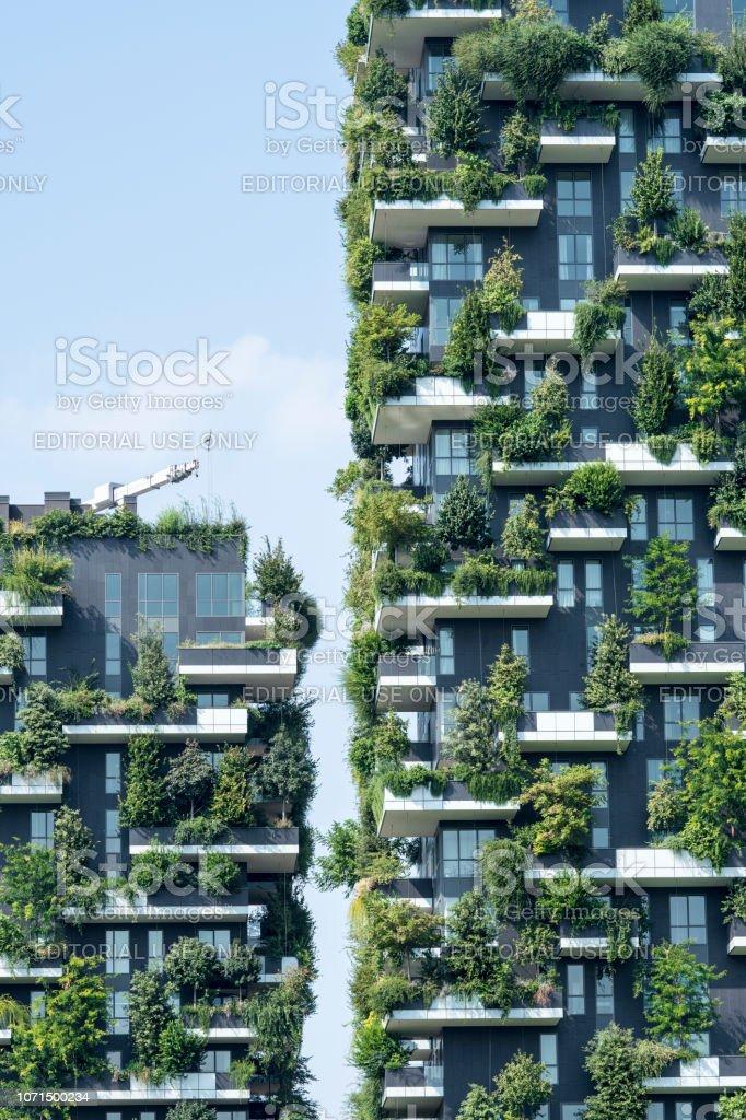 Skyscrapers Bosco Verticale - foto stock
