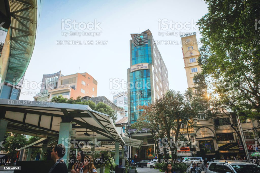 Skyscrapers, with architecture office towers, hotels, center cultural and commercial development square stock photo