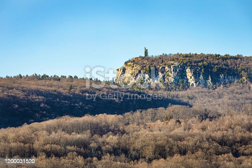 Skytop Tower and Eagle Cliff, Mohonk Preserve, Upstate New York, USA at fall