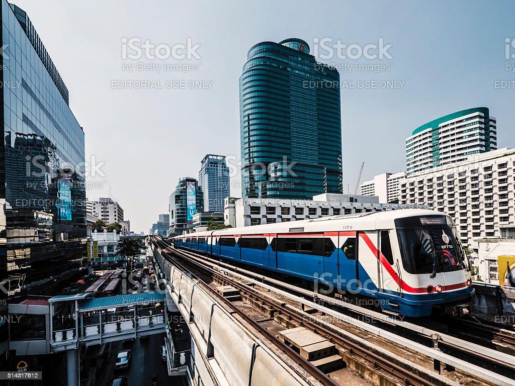 BTS Skytrain Bangkok Thailand stock photo