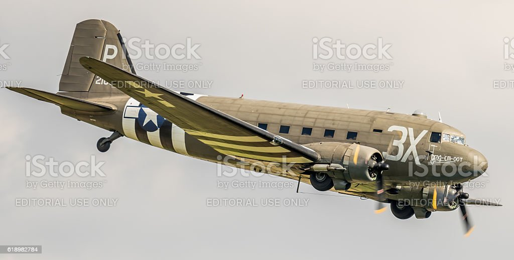 C-47 Skytrain / Dakota WWII aircraft stock photo
