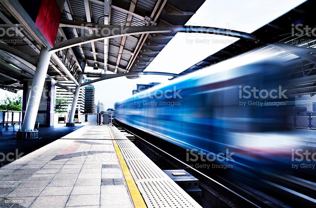 Skytrain.Bangkok cityscape stock photo