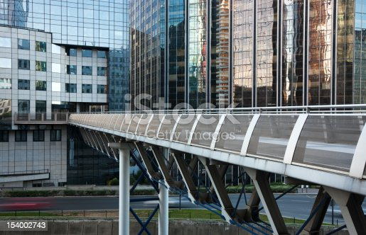 889637894 istock photo Skywalk and Office Buildings in Financial District, La Defense, Paris 154002743