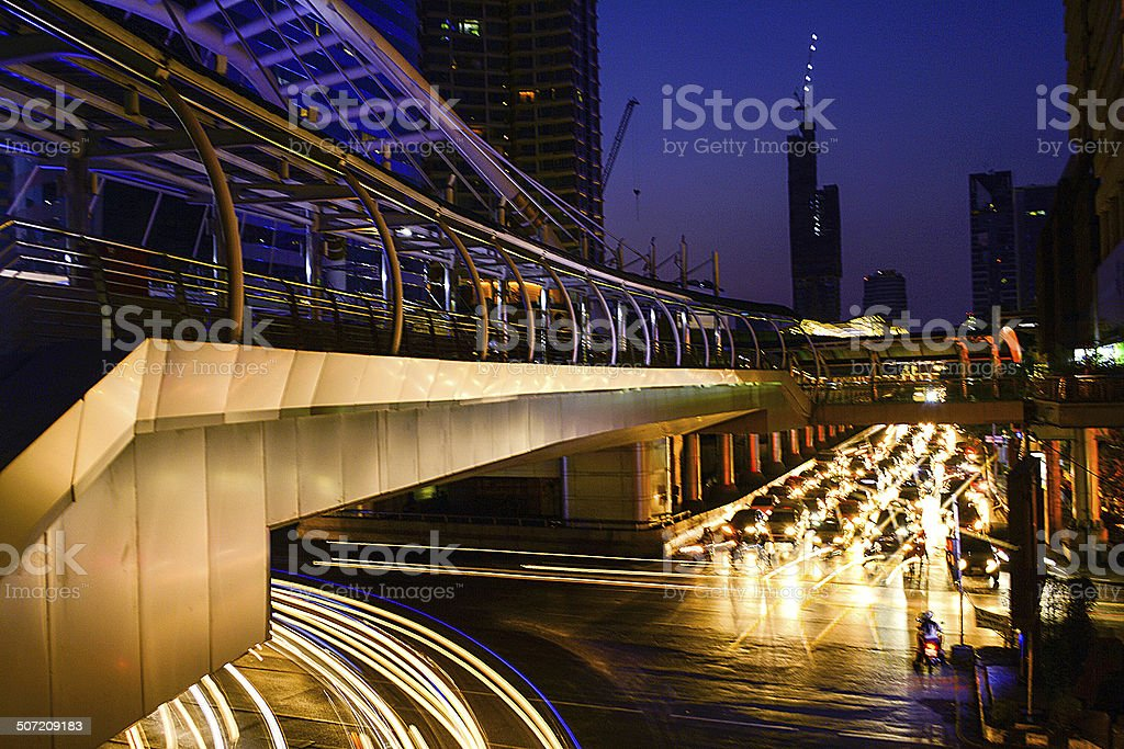 Skywalk, Bangkok royalty-free stock photo