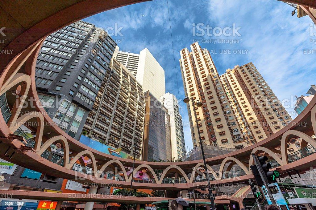 Skywalk Causeway Bay stock photo