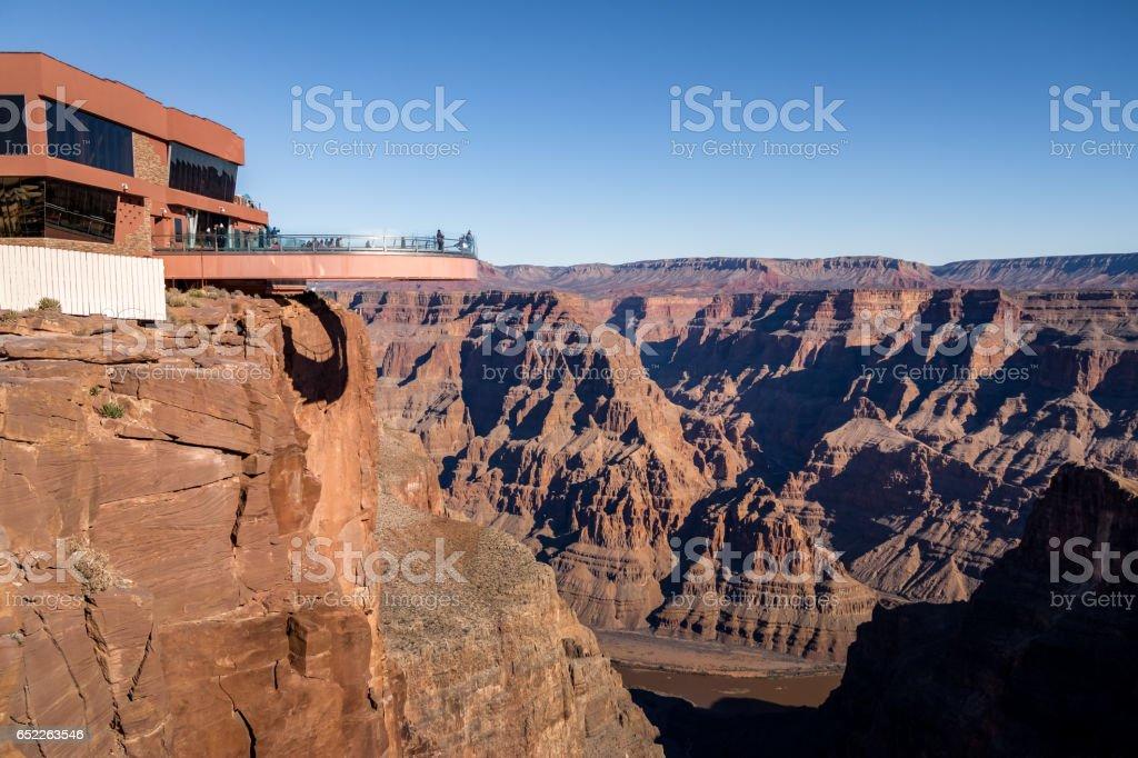 Skywalk observatory at Grand Canyon West Rim - Arizona, USA royalty-free stock photo