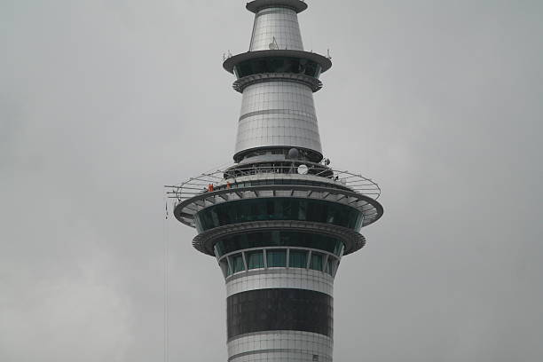 Skywalk on Auckland Tower stock photo