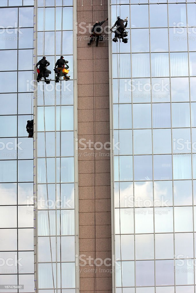 Skywalkers royalty-free stock photo