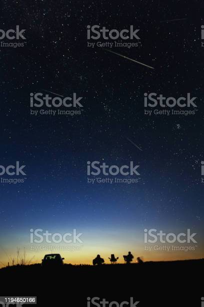 Photo of Skywatching with frends stock photo