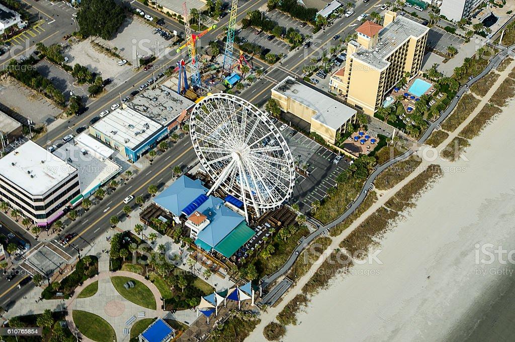 skywheel ferris wheel and boardwalk myrtle beach south carolina