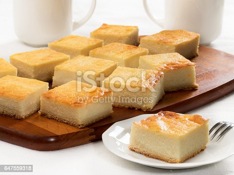 Slab pie with cottage cheese