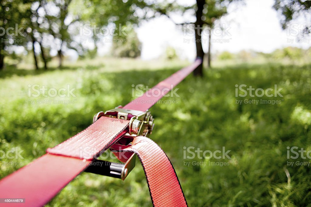 Slackline stock photo