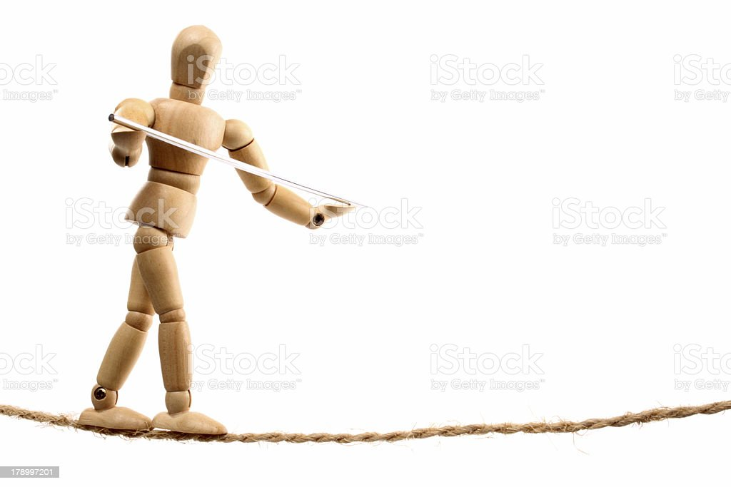 Slacklining royalty-free stock photo