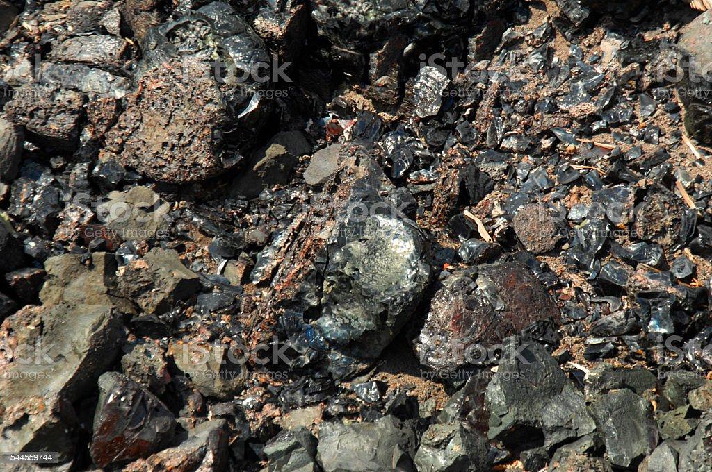 Slag Rocks stock photo