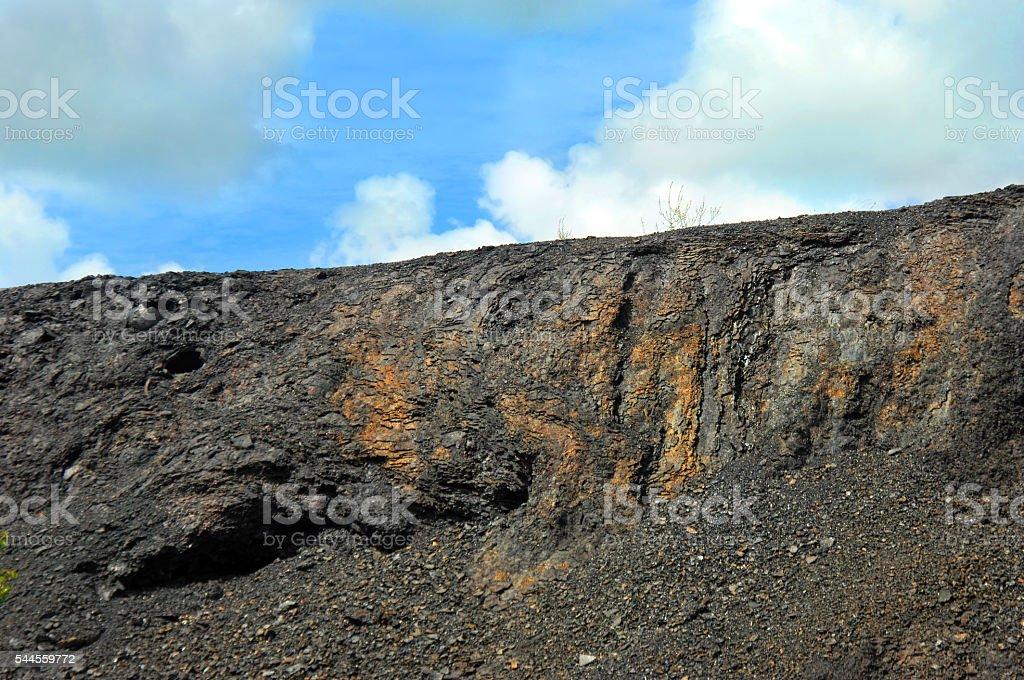 Slag Wall stock photo