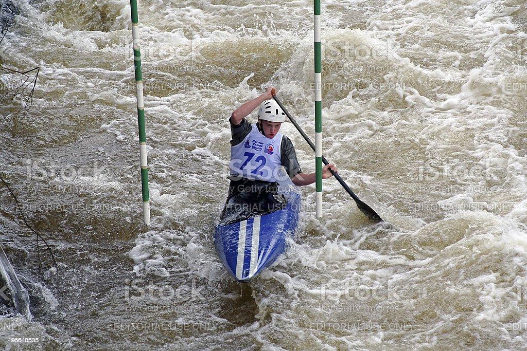 Slalom Canoeing Llangollen North Wales stock photo
