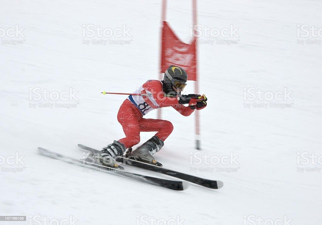 Slalom competition stock photo